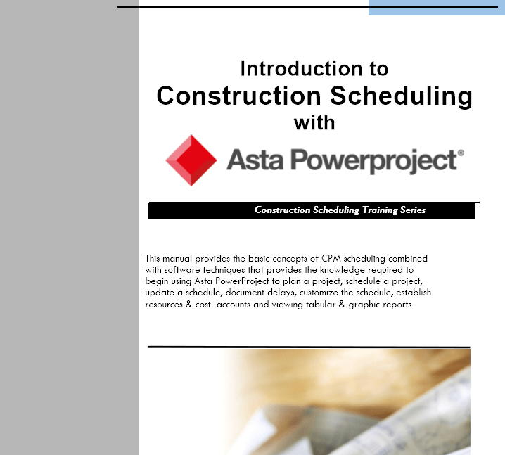 Training Manual Outline: Intro to Powerproject Training Manual