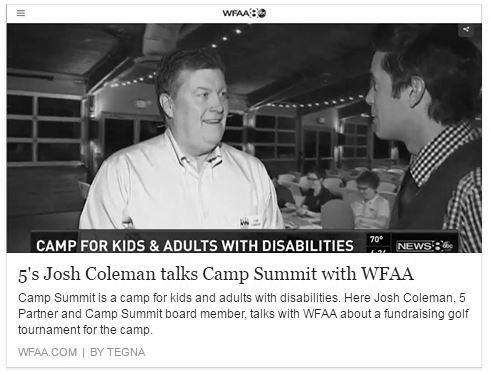 josh coleman camp summit charity
