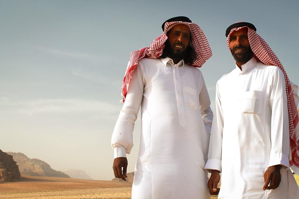 Bedouin men in Wadi Rum Jordan Tour