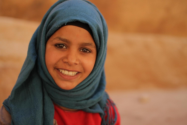 Bedouin Girl Petra by Daniel Adamson