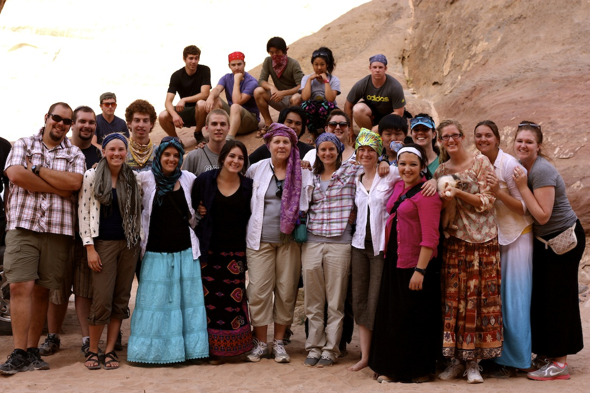 Wadi Rum Group Jeep Tour Student Group