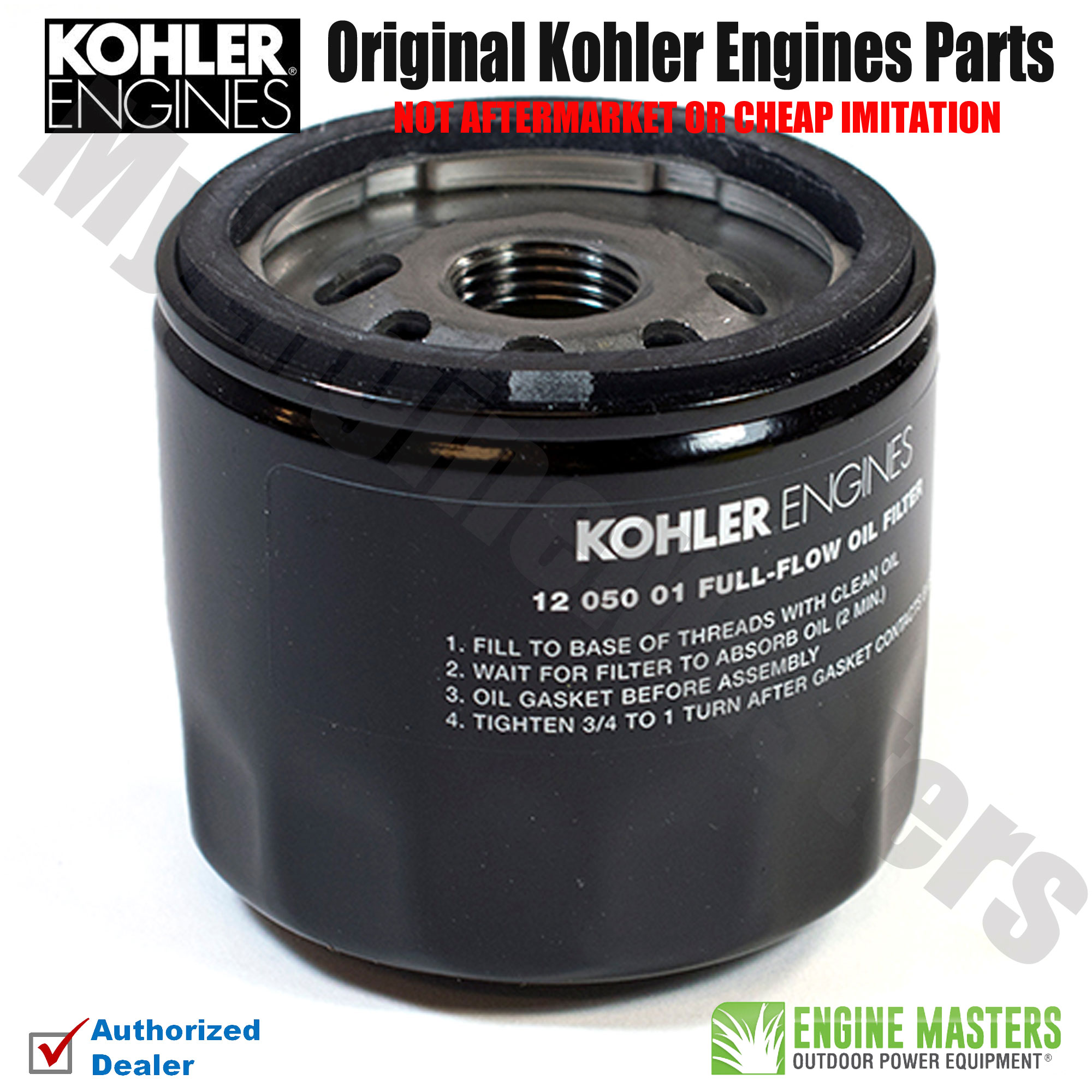 6 Pack Replacement Oil Filter for Kohler 12-050-01 12-050-01-S 1205001 1205001S