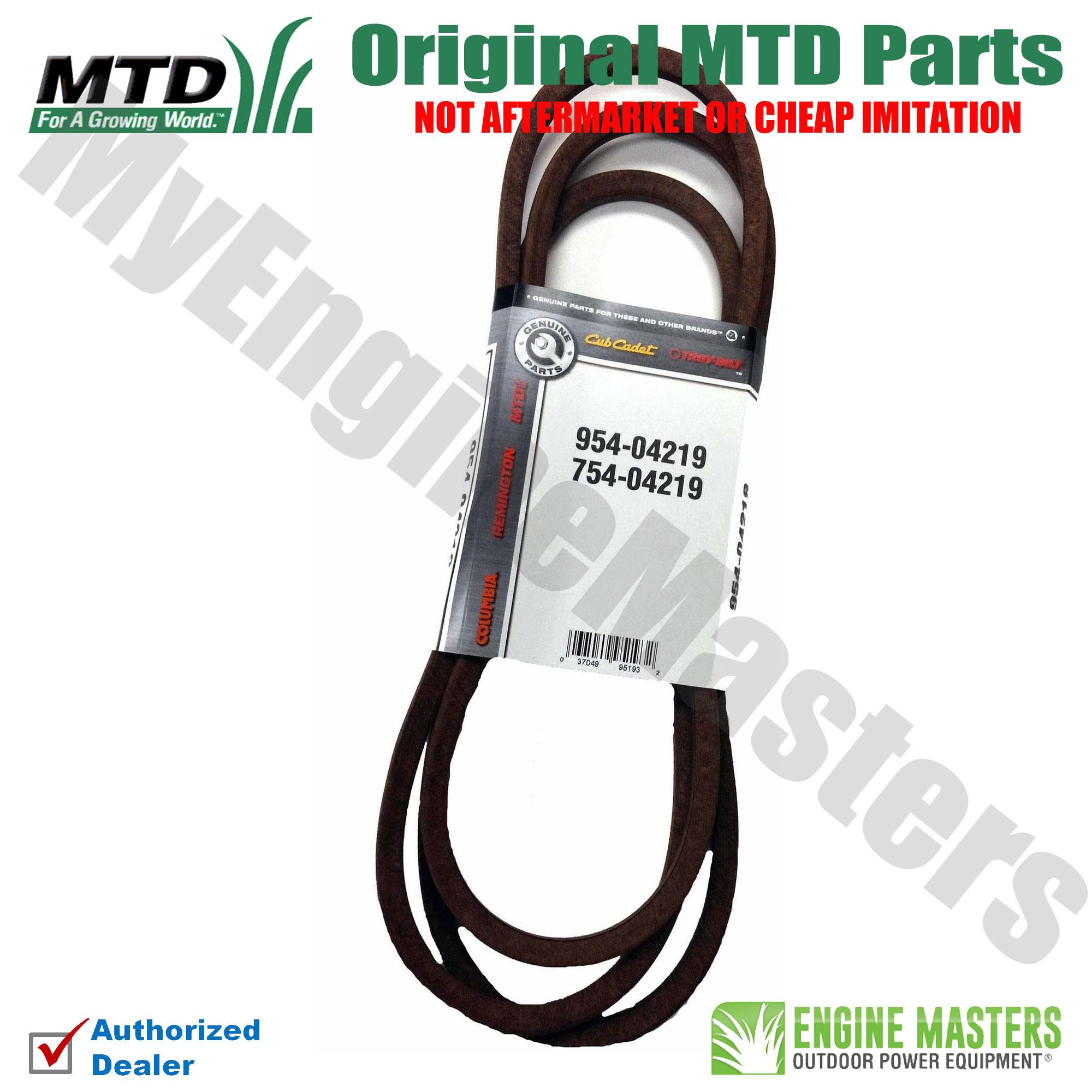 Details about Mtd Craftsman 954-04219 Lawn Tractor Blade Drive Belt Genuine  Original Equipment