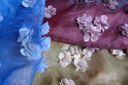 organza blomapplikation
