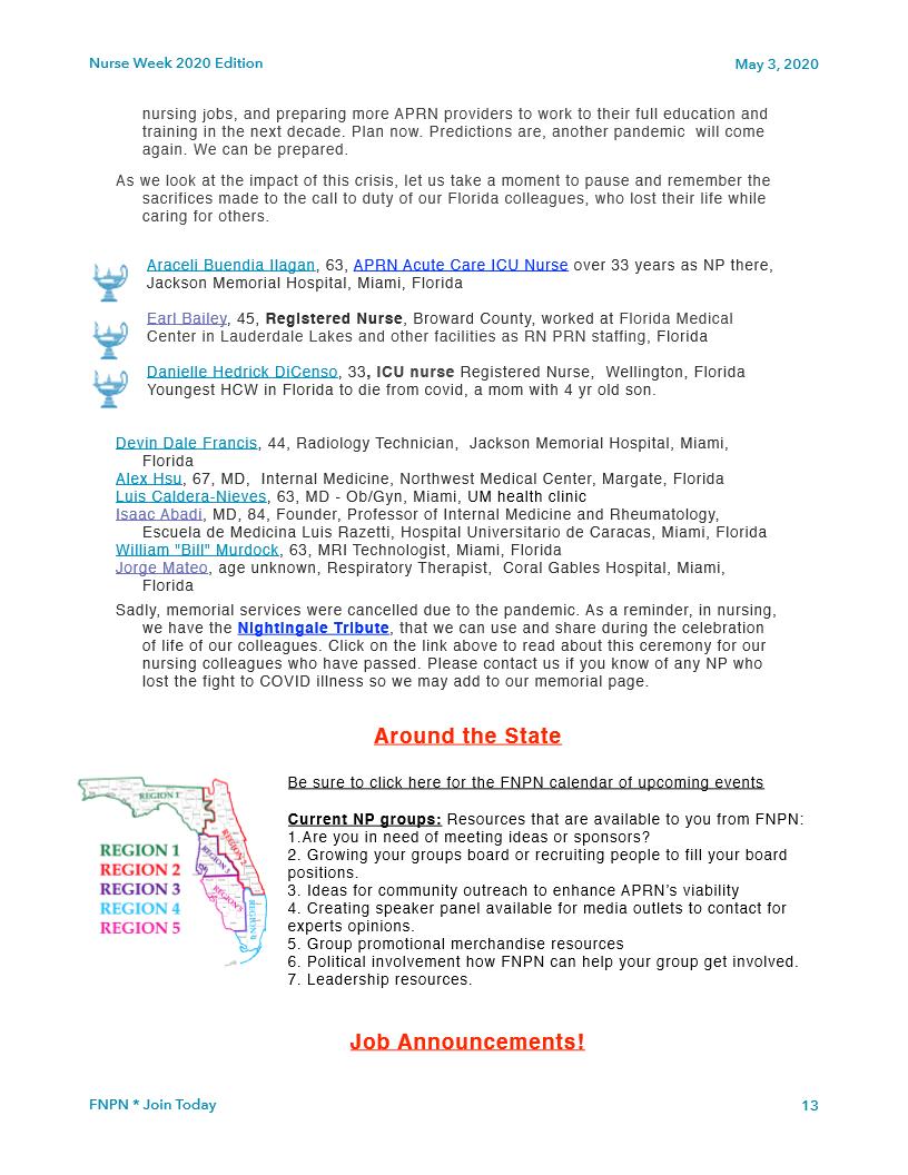 Fnpn Newsletter May 2020 Florida Nurse Practitioner Network Enp Network