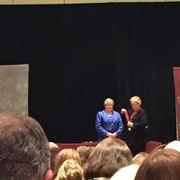 Tricia Pearce awarding Susan Appel Fellowship Medallion