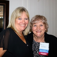 Regina Pommer and Jean Aertker at the Friday Evening Gala during the FNPN Conference