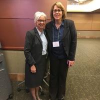 Pamela Levesque APRN, Seacoast Regional rep. With speaker Lisa von Braun APRN