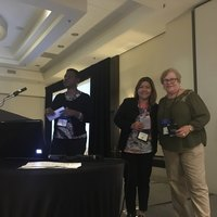 Poster winners Maria Rosell-Morillo and JoAnn Fisher