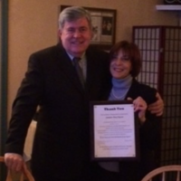 Lorraine Diana, Legislative Co-chair, presented Senator Dyson with a Certificate of Appreciation for his years of service to Marylanders.