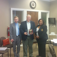 Long-time friend, colleague, trailblazer, and supported for Georgia's APRNs, Dr. Perry Kemp is presented the 2015 UAPRN state Advocate Award for APRNs by Drs. James Lawrence, state president and Michelle Nelson, state secretary