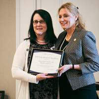 Representative Michelle Cook receives the 2019 State Award for Excellence for increasing awareness and recognition for Nurse Practitioners