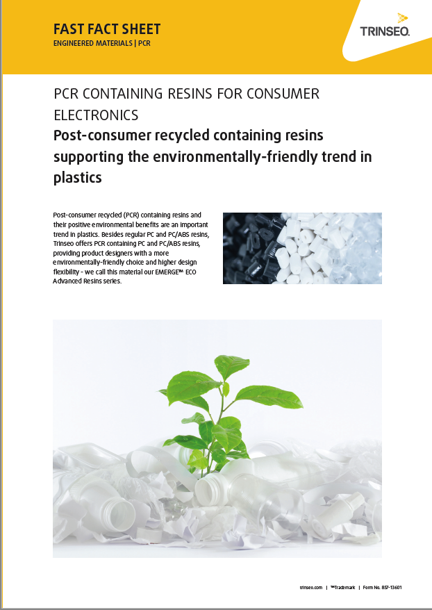 Post-consumer recycled containing resins supporting the environmentally-friendly trend in plastics