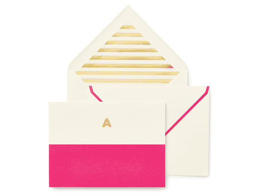 Kate Spade New York Dipped Initial Foldover Notes, A