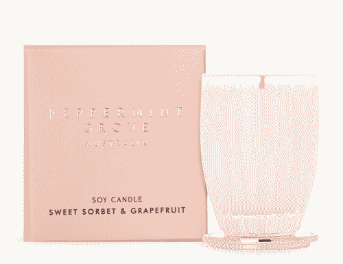 Peppermint Grove Sweet Sorbet and Grapefruit Candle 60g