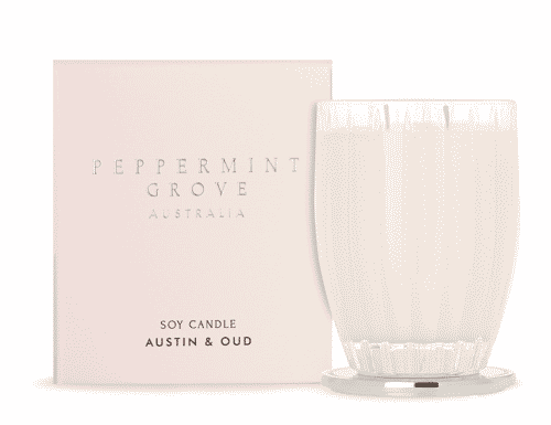 Peppermint Grove Austin and Oud Candle 350g