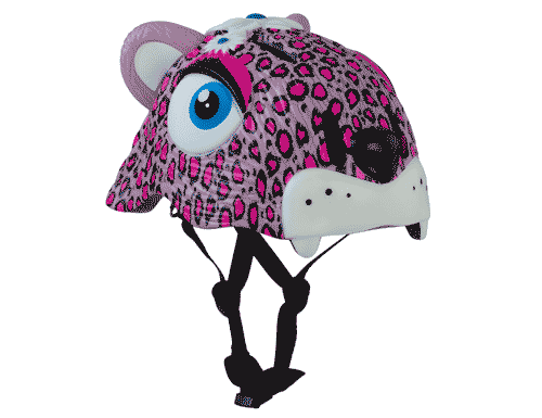 Crazy Safety Pink Leopard Helmet