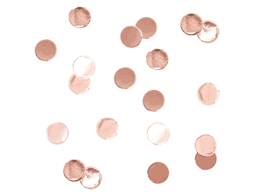 Rose Gold Table Confetti