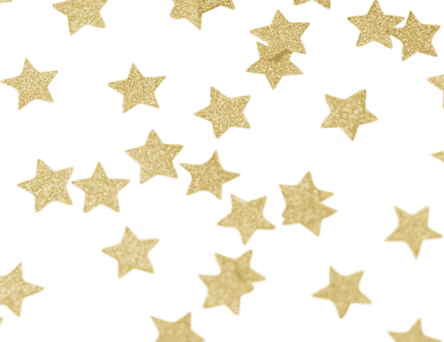 Metallic Perfection Star Confetti - Gold
