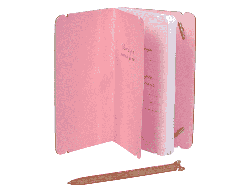Ted Baker London Mini Notebook & Pen Chelsea Border