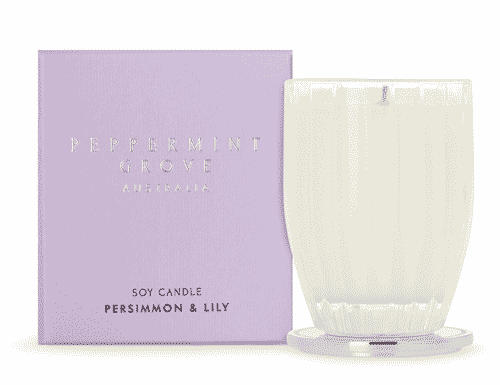 Peppermint Grove Persimmon and Lily Candle 200g