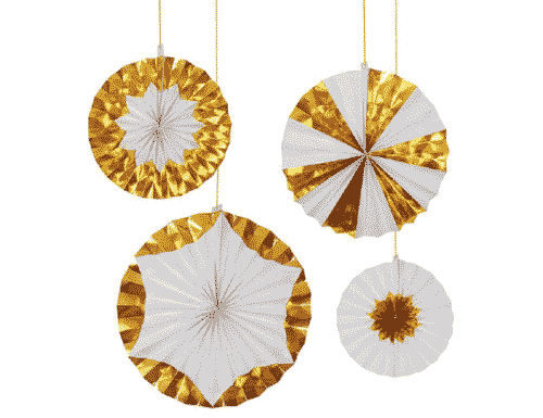 Gold Foil Pinwheels