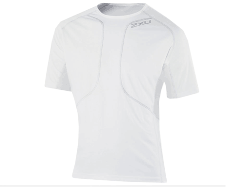 2XU White Short Sleeve Run Top