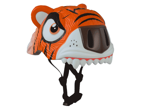 Crazy Safety Orange Tiger Helmet