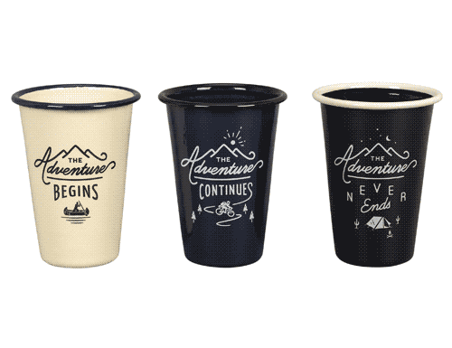 Gentlemen's Hardware Enamel Tumblers Set of 3