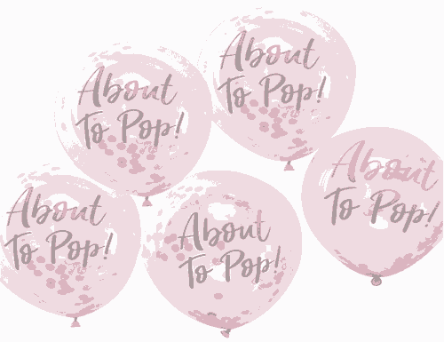 Printed Pink Confetti Balloons