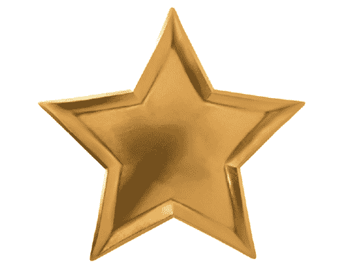 Metallic Star Plates - Gold