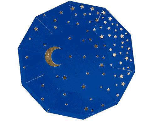 Stars & Moon Plates - Blue
