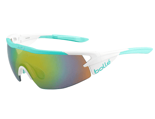 Bolle Aeromax Glasses - Matte White & Mint