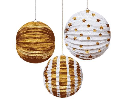 Gold Foil Lanterns