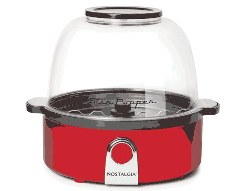 Nostalgia Retro Red Stir Popcorn Popper