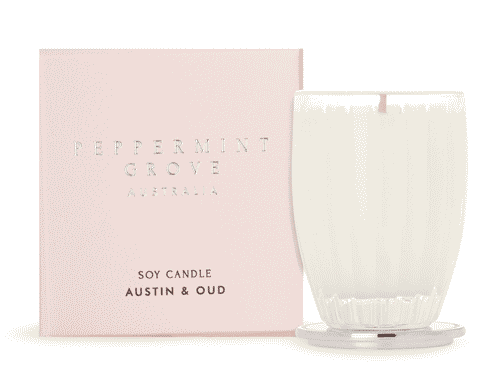 Peppermint Grove Austin and Oud Candle 60g