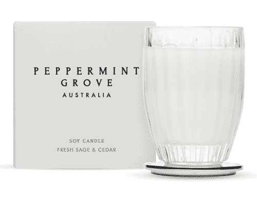 Peppermint Grove Fresh Sage & Cedar Candle 60g