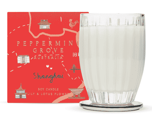 Peppermint Grove Shanghai - Lily & Lotus Flower Candle 350g