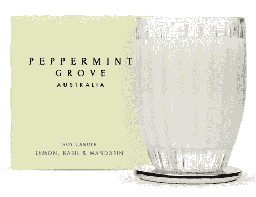 Peppermint Grove Lemon, Basil & Mandarin Candle 350g