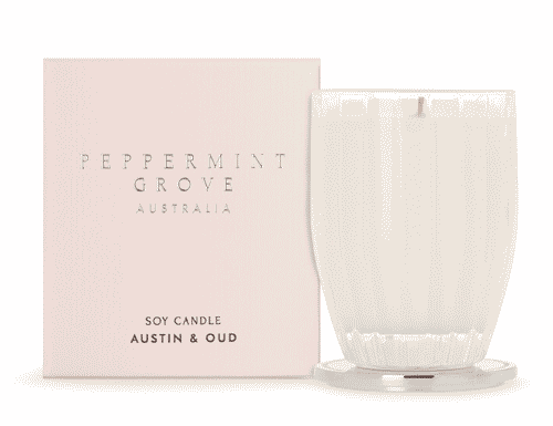 Peppermint Grove Austin and Oud Candle 200g