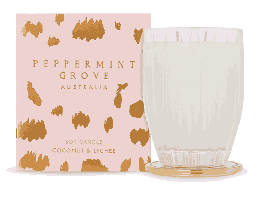Peppermint Grove Christmas Coconut & Lychee Candle 350g