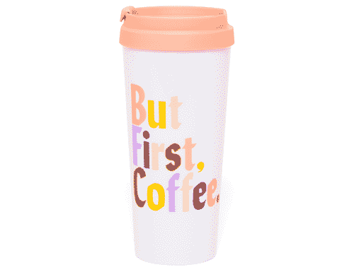 Ban.do Hot Stuff Thermal Mug - But first coffee
