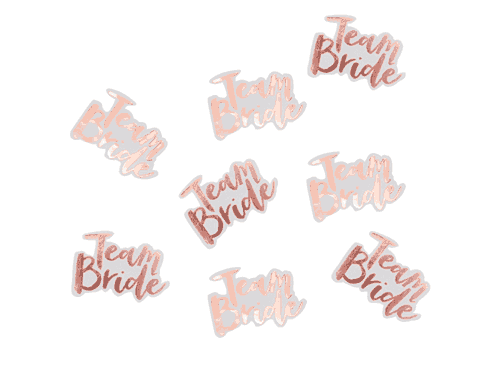 Rose Gold Team Bride Confetti