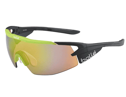 Bolle Aeromax Glasses - Matte Black & Green