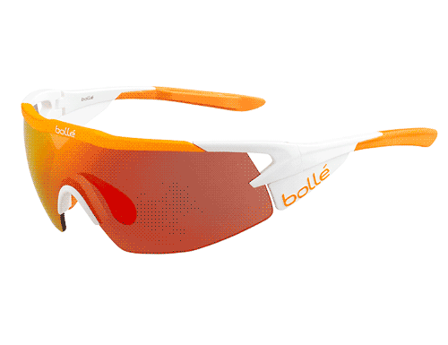 Bolle Aeromax Glasses - Matte White & Orange