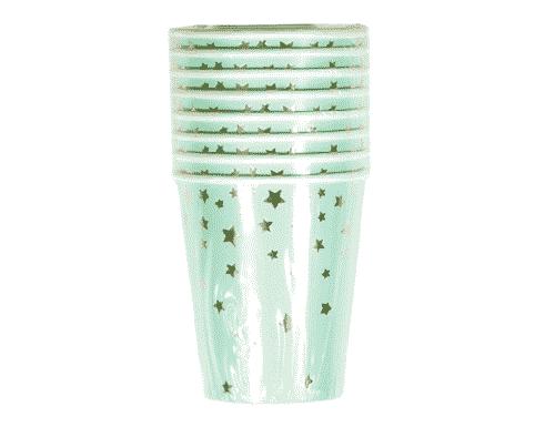 Metallic Star Cups - Mint