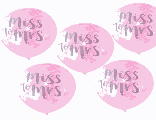 Miss to Mrs Printed Confetti Balloons