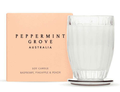 Peppermint Grove Raspberry, Pineapple & Peach Candle 60g