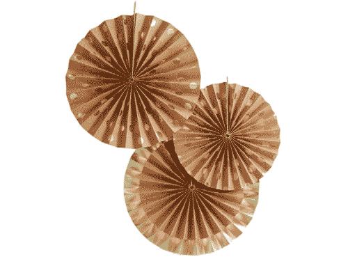 Gold Foil & Kraft Fan Decorations