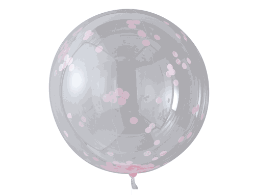 Pink Confetti Orb Balloons